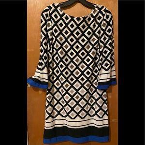 Eliza J Casual Diamond Pattern Dress Size 6